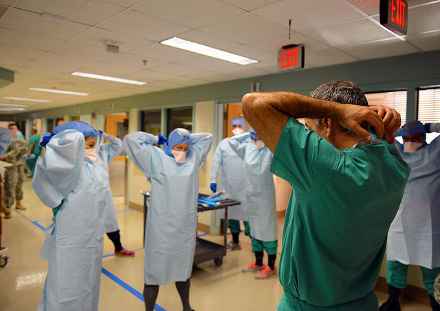 """Ebola Response Training"", CC-BY image by Army Medicine via Flicker"